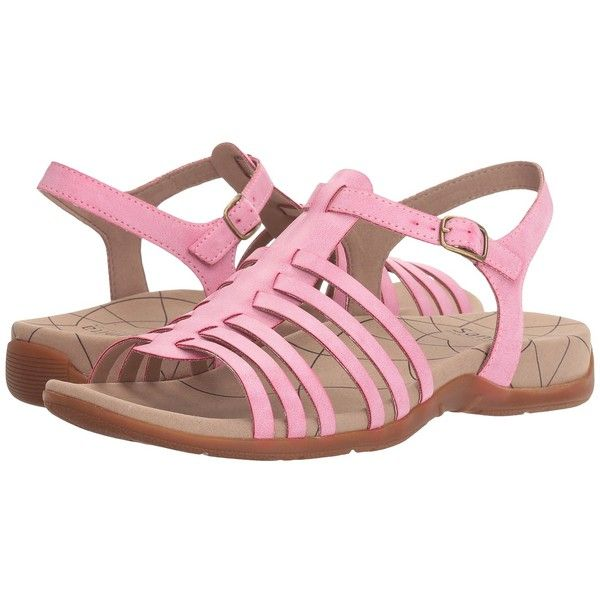 Sanita Cadence (Pastel Pink) Women's Sandals ($80) ❤ liked on Polyvore featuring shoes, sandals, sanita shoes, sanita footwear, strap sandals, pink shoes and sanita sandals