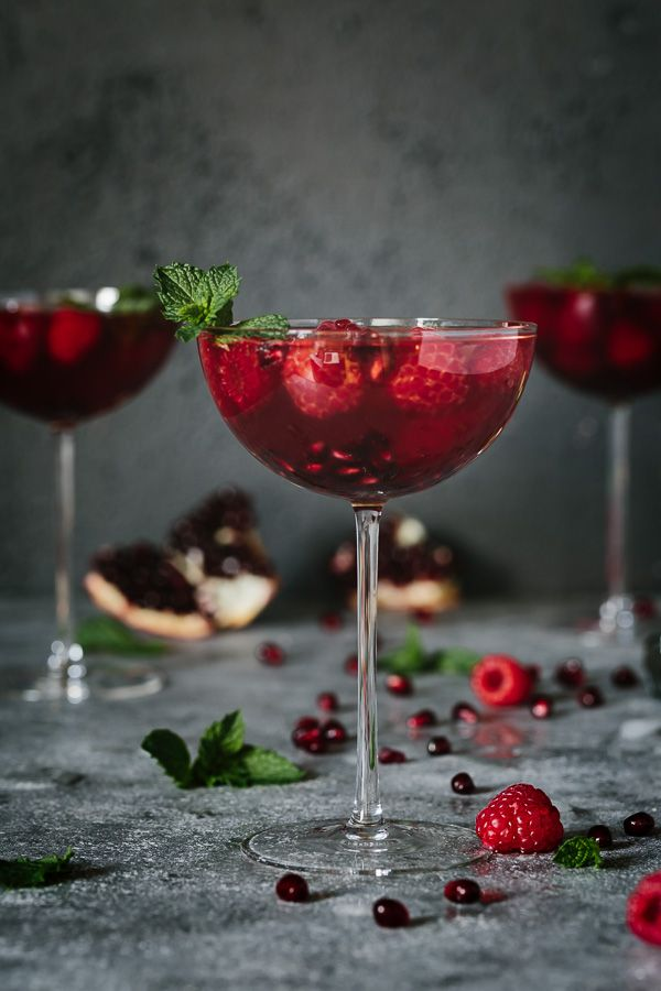Elegant wedding cocktail idea - Raspberry and Pomegranate Rosé Summer Cocktail {Courtesy of Foolproof Living}