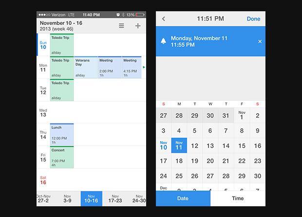 Calendars 5's more minimal and beautiful UI.