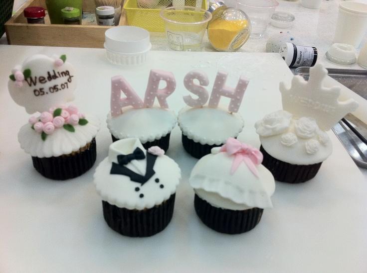 My wedding celebration! by Jennifer # special cupcake, wedding cupcake, sugarcraft cupcake