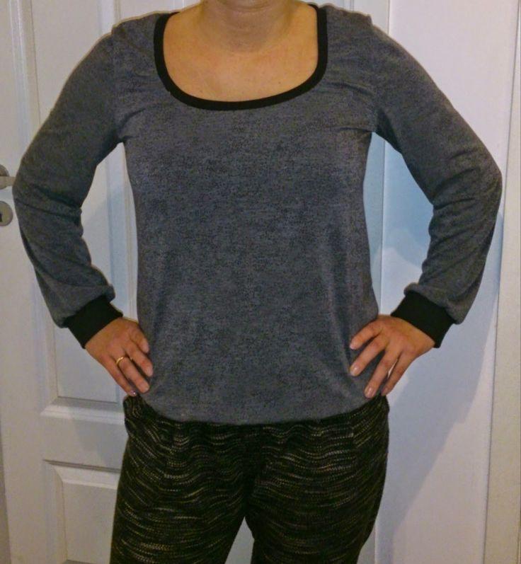 Lykketing: Flott genser/tunika mønster som er lett å variere