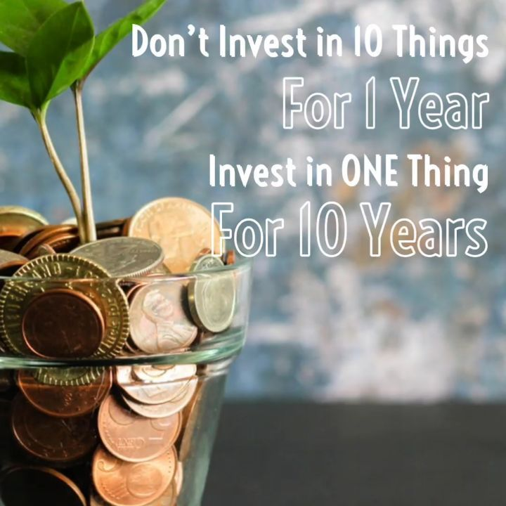 Don T Invest In 10 Things For 1 Year Invest In 1 Thing For 10 Years Www Radsky In Aftersales Servicesoluti In 2020 Kids Money Management Money Management Term Loan