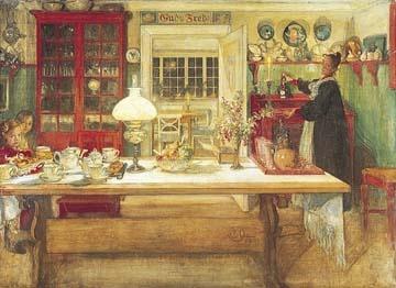 Karl Larsson swedish kitchen print. He is my Grandma's fave artist. :)
