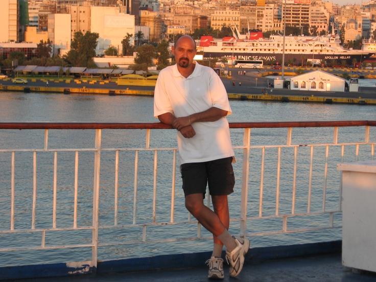 Piraeus Port, Greece, 2008, on board of Crete 2 ferryboat #greatwalker
