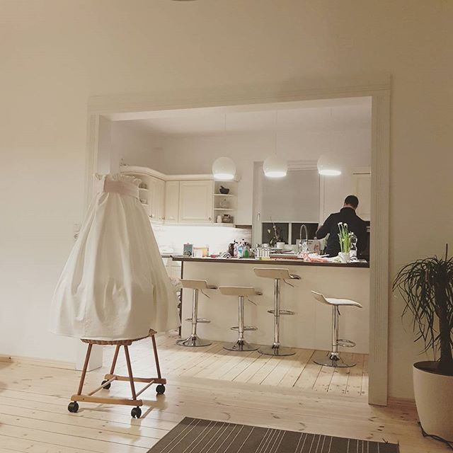Fancy Heute kochen die M nner mal Sabrina kitchen k che landhausk che