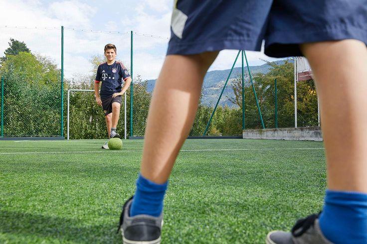 Spaß beim Fußballspielen im Dolce Vita Hotel Feldhof