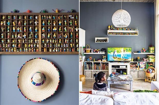 Una casa colorida para dar la bienvenida a la primavera  Parte de la vasta colección de Los Simpson encontró su lugar en un cajón tipográfico.         Foto:Living           /Santiago Ciuffo