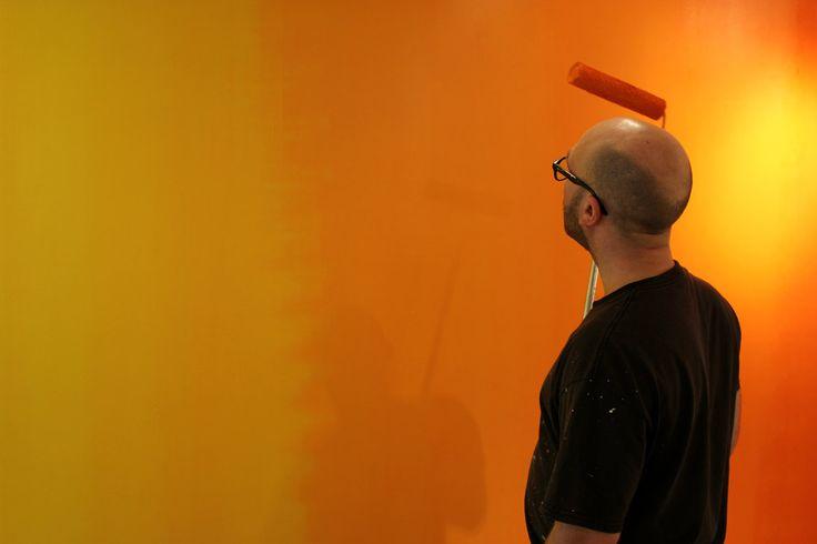 Mathieu Lévesque au Centre d'art Regart en 2016 Photographe: Catherine Genest (c) Communications Voir