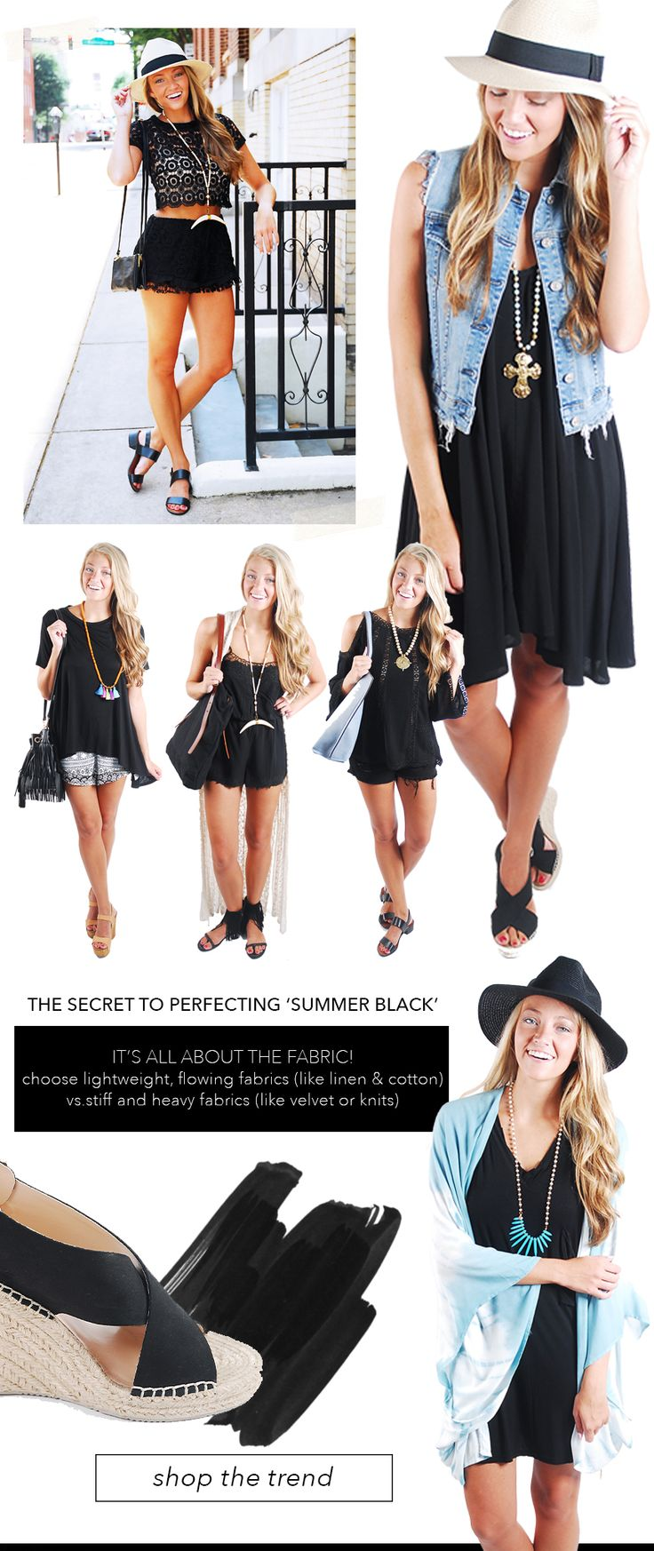 How to rock the Summer Black trend!