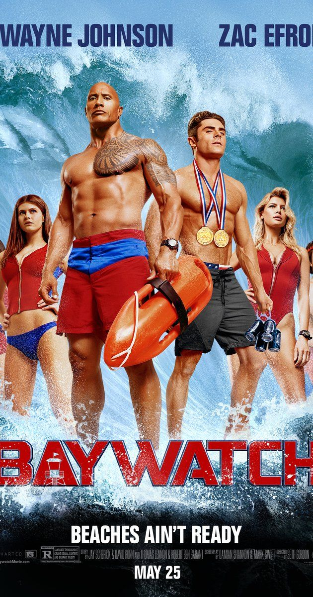 Directed by Seth Gordon.  With Dwayne Johnson, Zac Efron, Alexandra Daddario, Priyanka Chopra. Devoted lifeguard Mitch Buchannon butts heads with a brash new recruit, as they uncover a criminal plot that threatens the future of the bay.