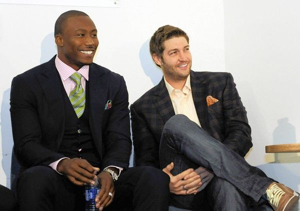 Do I smell football camp in the air? These boys have style!  Jay Cutler and Brandon Marshall
