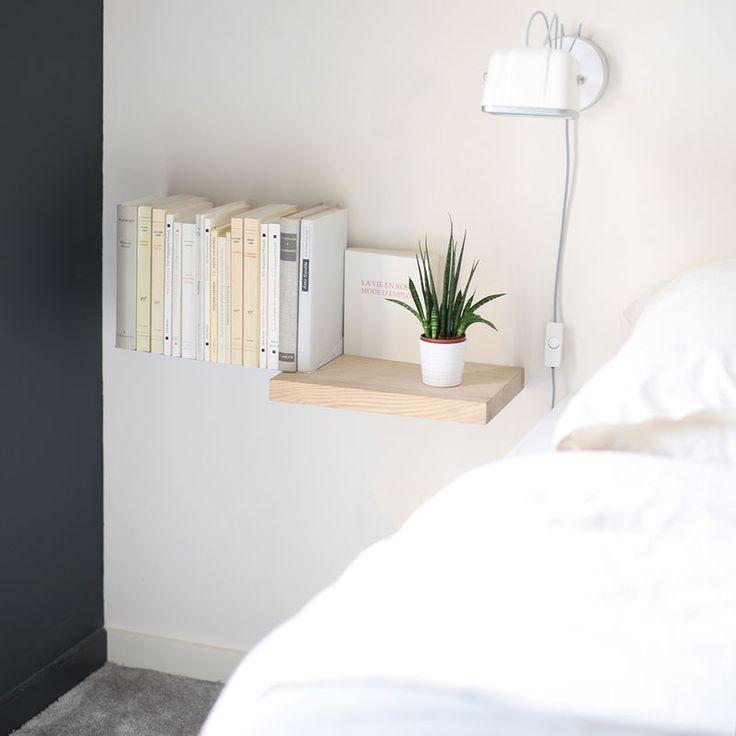 Esta estantería flotante puede agregar un atractivo caprichoso a casi cualquier habitación, mientras que sirve como un medio conveniente de almacenamiento.