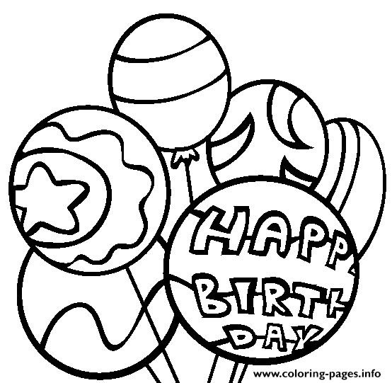 print happy birthday balloons sad8f coloring pages