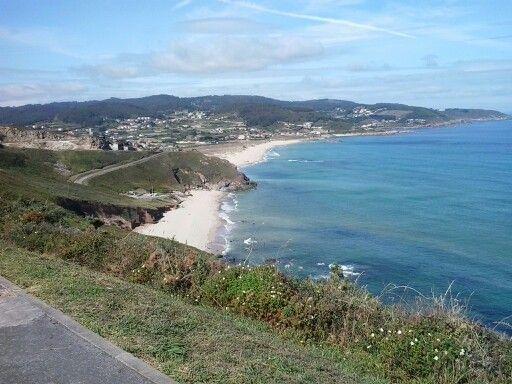 Vista da praia de Combouzas e Barrañan.