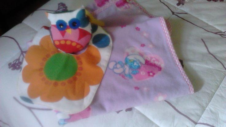 kit regalo per bimba con gufetto