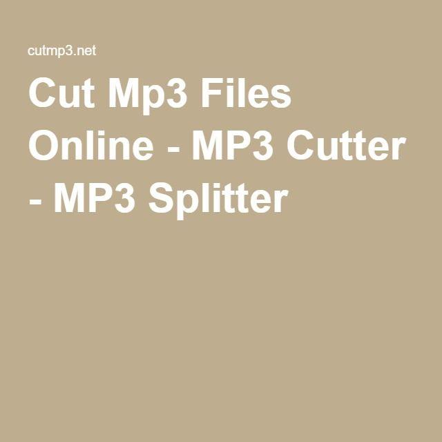 Cut Mp3 Files Online - MP3 Cutter - MP3 Splitter