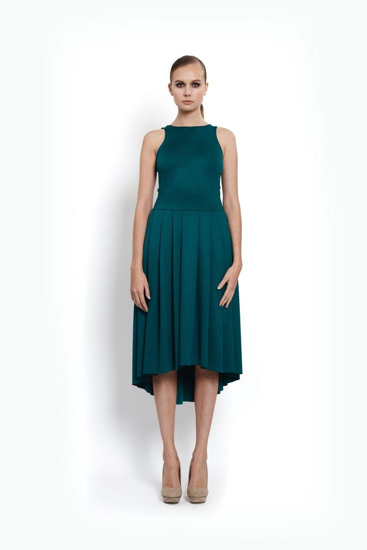 ocassion emerald dress, design Lucie Kutálková/ LEEDA