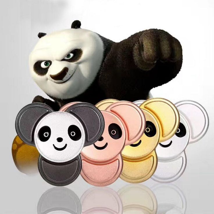 Creative Cute Panda Children Finger Spinner Lovely Hand Fidget Zink EDC Stress Spinners Zink Alloy Style Puzzle Finger ADHD #Affiliate