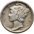 Mercury Winged Liberty Head 1936 Dime United States Silver Coin Fasces i44889