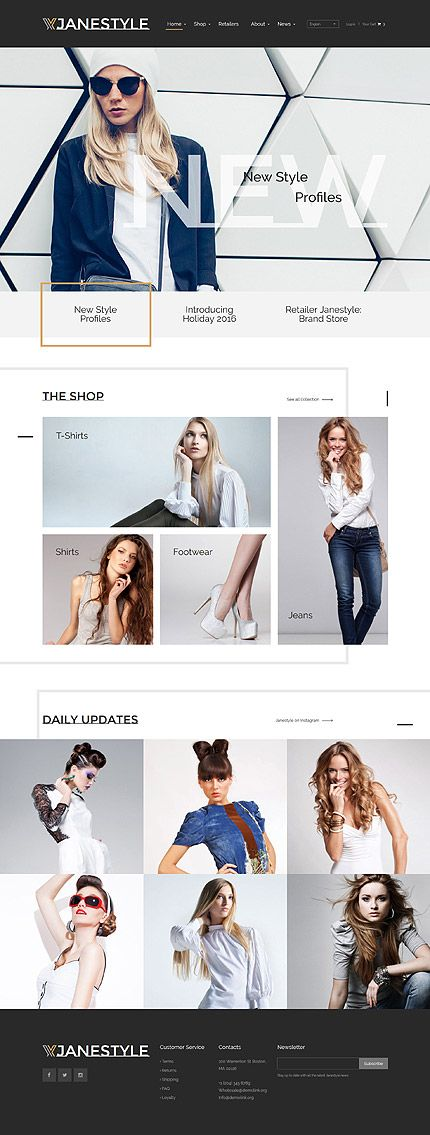 Stylish Fashion Clothing #website #template. #themes #business #responsive #websitethemes
