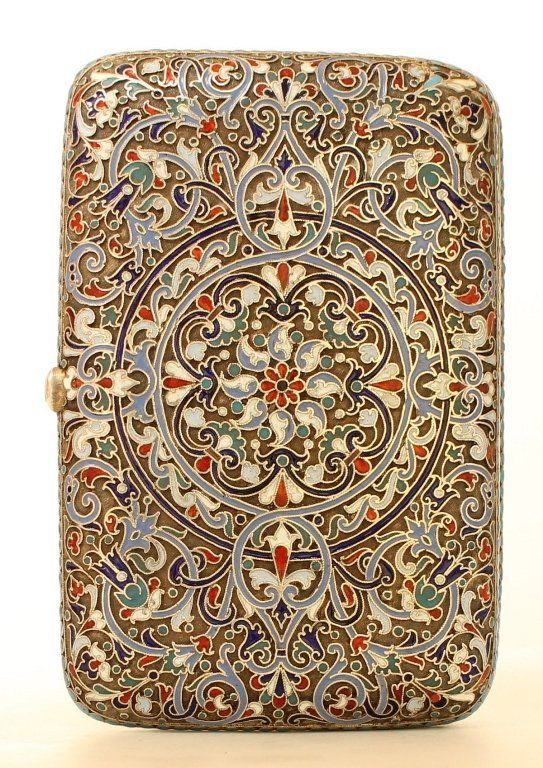A Russian Enamel Cigarette Case By Klingert