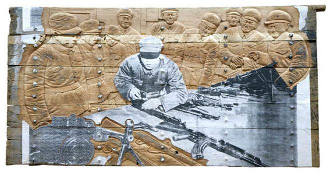 Gun (Memory Door); (264x135 cm, 2007; Haunch of Venison): Gun (Memory Door); (264x135 cm, 2007; Haunch of Venison)