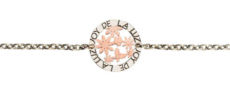 Joy de la Luz   Silver bracelet garden rosé  €39,95