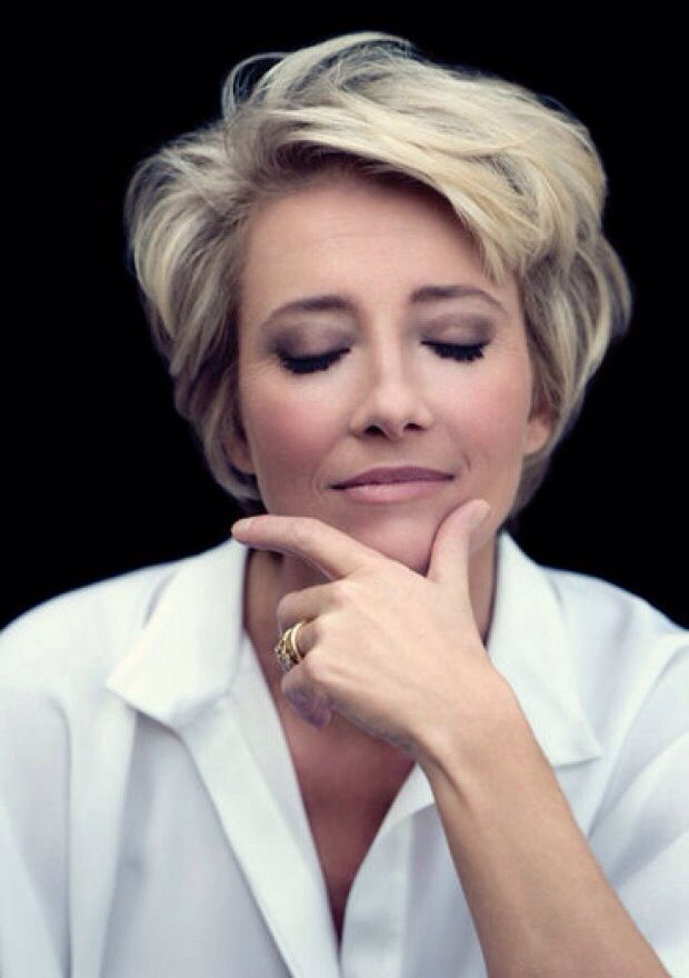 Emma Thompson - love her hair, oh to be like this!