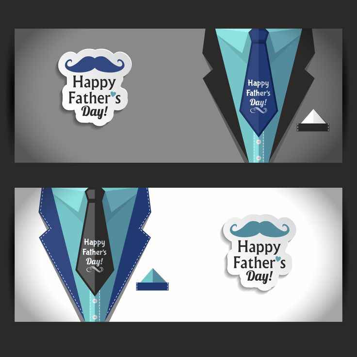 happy fathers day banners set1