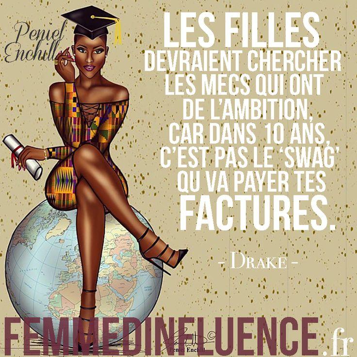 Citation Amour : « Les filles devraient chercher les mecs qui ont de l'ambition, car dans dix ans, c'est pas le swag qui va payer tes factures. » - Drake