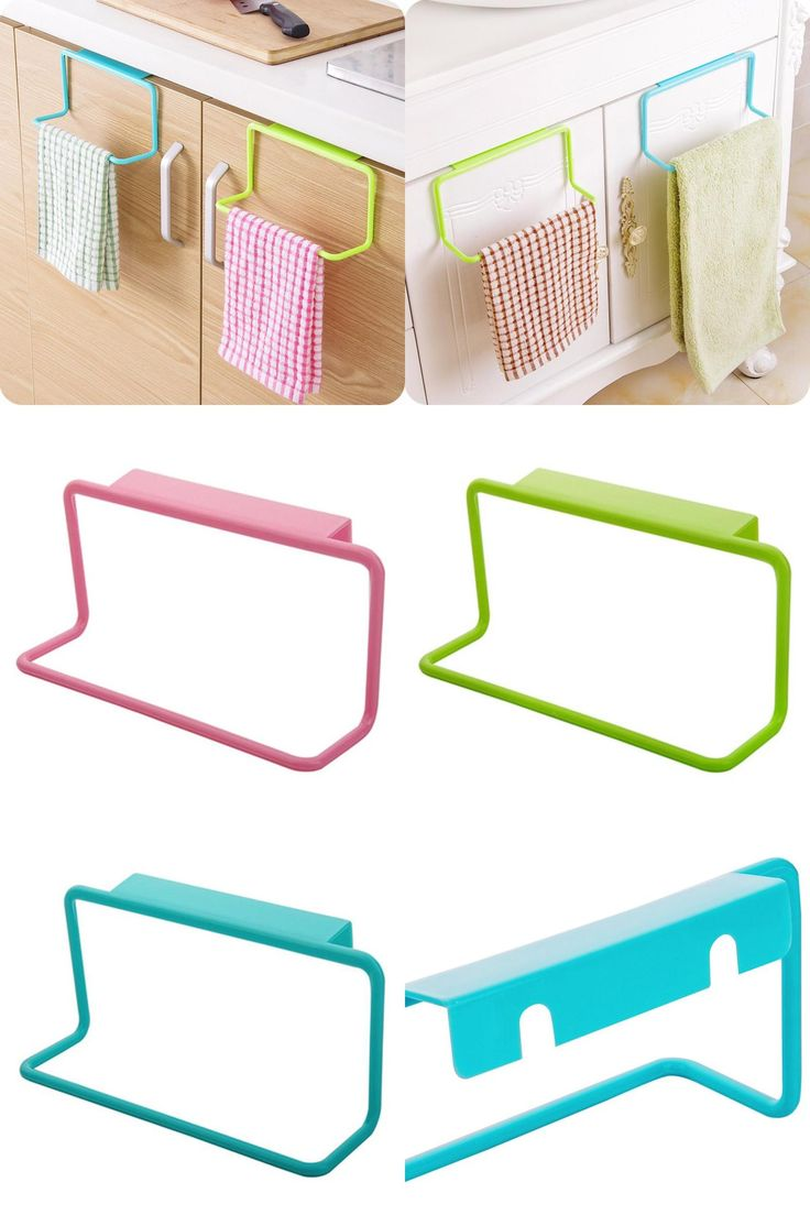 [Visit to Buy] Kitchen Organizer Towel Rack Hanging Holder Bathroom Cabinet Cupboard Hanger Shelf For Kitchen Supplies Accessories Cocina *40 #Advertisement