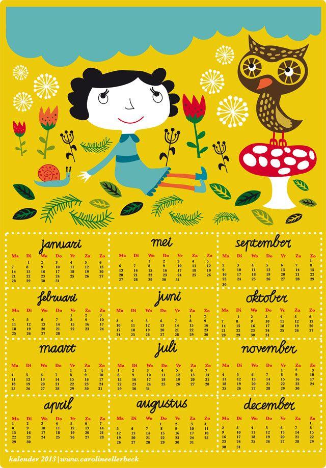 ☞ ☞ More than 50 free printable 2013 calendars – kostenlos ausdruckbare