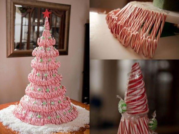 Albero di Natale con caramelle