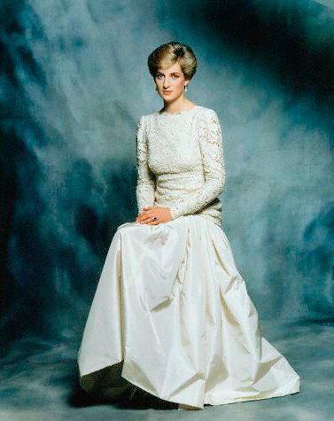 Lovely formal shot of Princess Diana