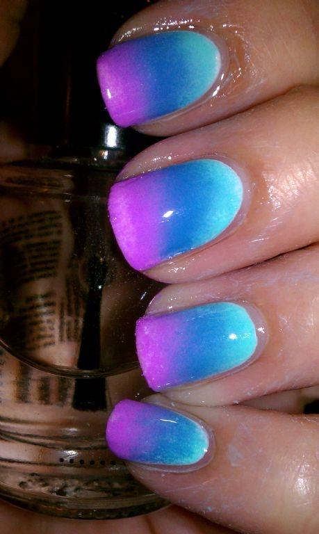 Sponge gradient: CC BlueMing, ChG Electric Beat and KC Pastel Purple, all over Chg White on White. Maricris @ MUA: Nails Nails, Pastel Purple, Style, Nailart, Color, Fake Nails, Nail Art, Nails 3
