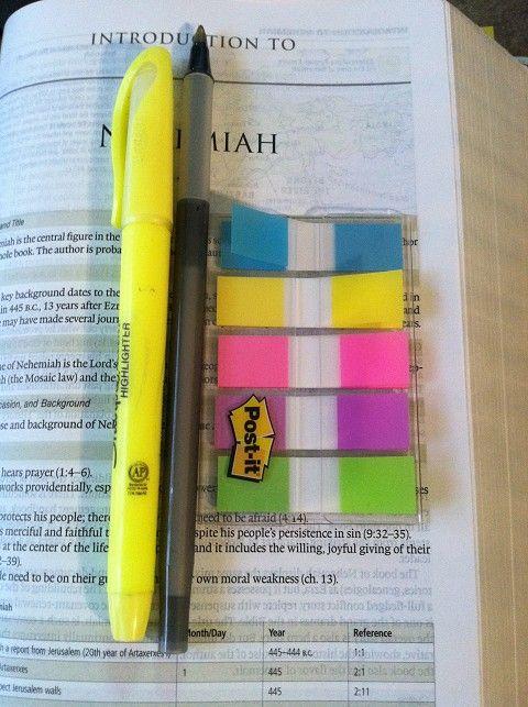 5 color scripture highlighting plan - very simple.