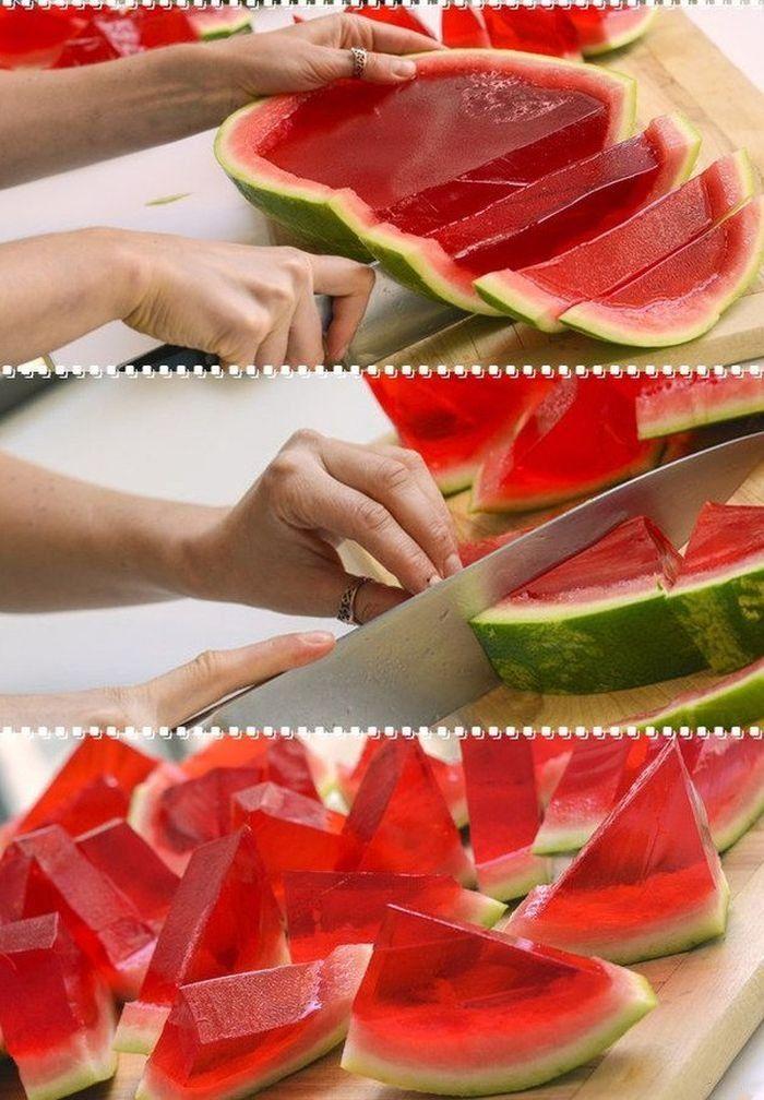 Wassermelonen Wackelpudding - bestimmt gut mit Vodka :)))
