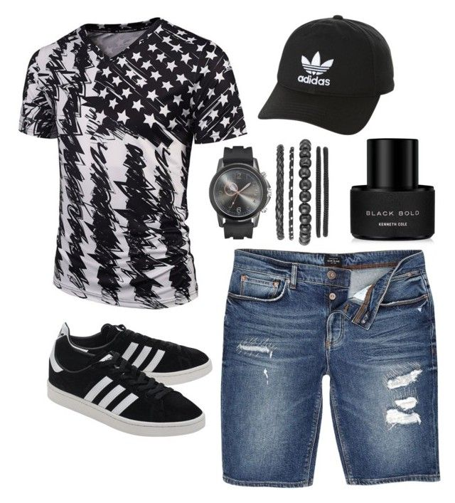 """""""Untitled #47"""" by parvanitagis on Polyvore featuring River Island, adidas Originals, Kenneth Cole, men's fashion and menswear"""