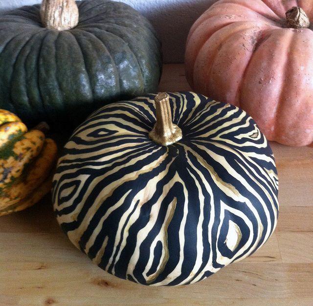 faux bois pumpkin...cute