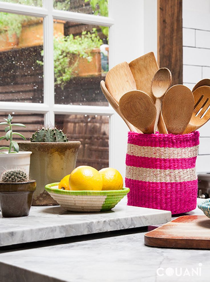 COUANI Catalogue 2014 // Kitchen organisation sorted with these bright COUANI baskets and bowls //