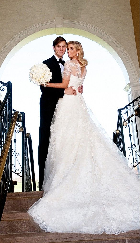 Ivanka Trump's #VeraWang wedding dress is divine. // #Weddings