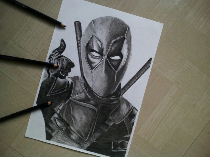 Deadpool Drawing With Charcoal Pencils Deadpool Drawing Realistic Drawings Drawings