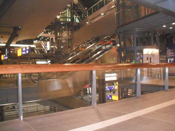 Berlin, Germany.  Berlin Hauptbahnhof - Central train station.