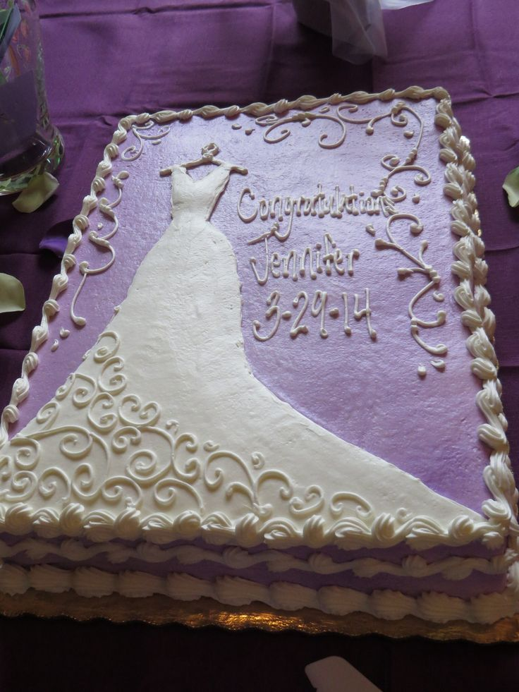 Purple bridal shower cake