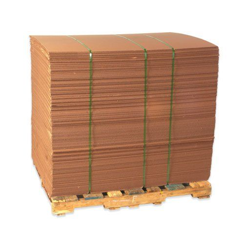 "Aviditi SP4042 Single-Wall Corrugated Sheet, 42"" Length x 40"" Width, Kraft (Bundle of 5)  Great for use as a layering pad on pallets to disperse weight  Pads help keep tops of products dust free during storage  Helps prevent strapping and forklift damage  It is manufactured from 200#/ECT-32 kraft corrugated  Sold in bundle quantities and product may be folded to prevent damage during shipment."