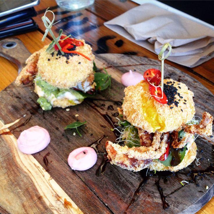 The Glass Den (Coburg): Sushi/Soft Shell Crab Burgers [9/10]