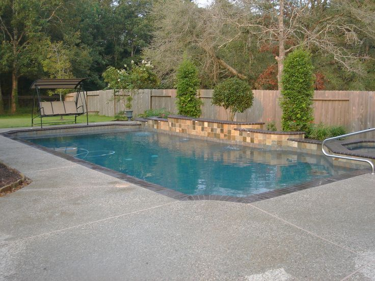 Best 25 swimming pool fountains ideas on pinterest for Simple swimming pool designs