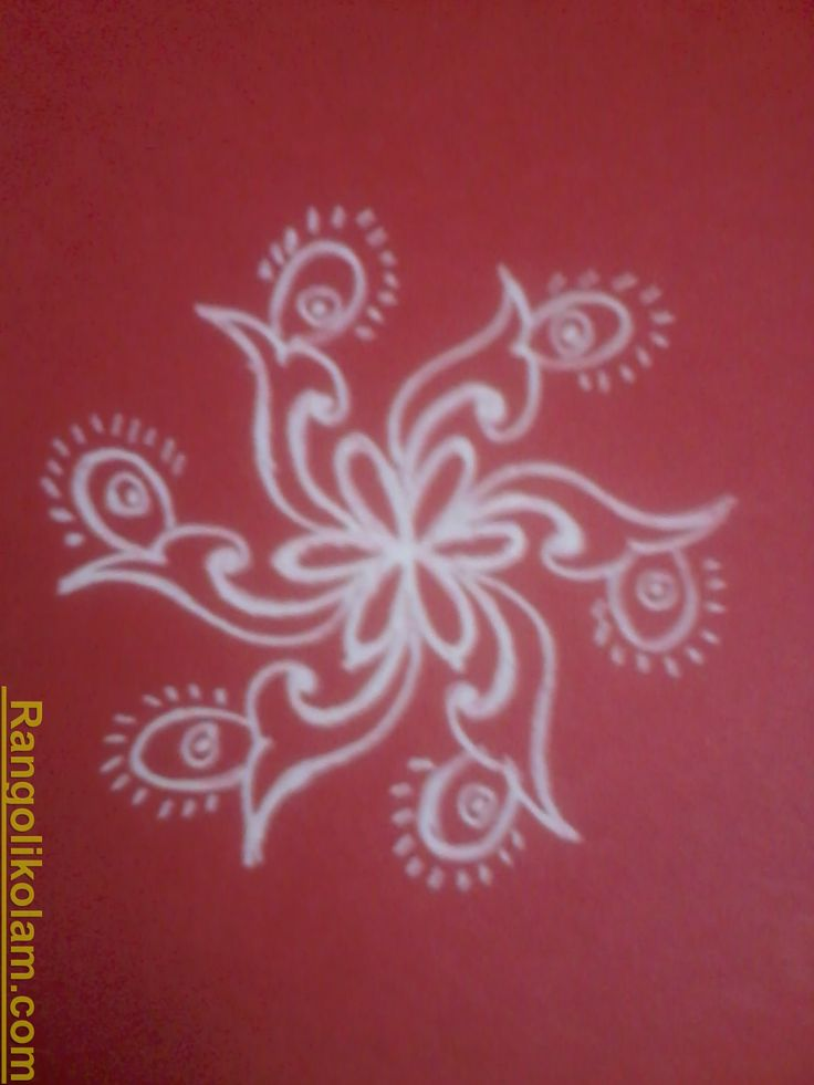 Flower kolam,Freehand kolam,Simple kolam,Kolam design