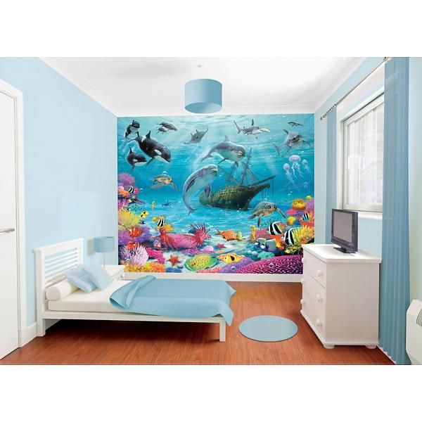 Walltastic Sea Adventure fotobehang - zowel voor een jongens als meisjes kinderkamer!
