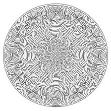 Display Image Mandala To Color Adult Difficult Find This Pin And More On Antistress Mandalas